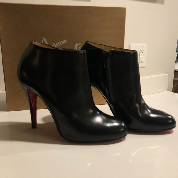 best sneakers 40490 b4efc Christian Louboutin Belle Booties 100 Eden Calf